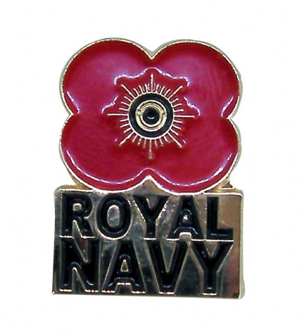 Poppy Pin Badge - Navy
